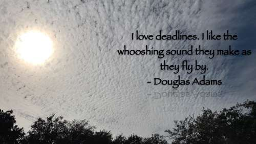 Douglas Adams - Deadlines & Writing
